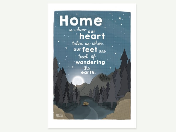 home heart love print