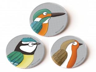 bird badges illustration childrens