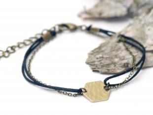 honeycomb brass bracelet