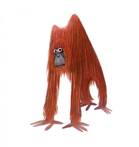 illustration orangutan
