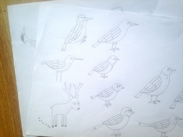 bird sketches beetlecherry