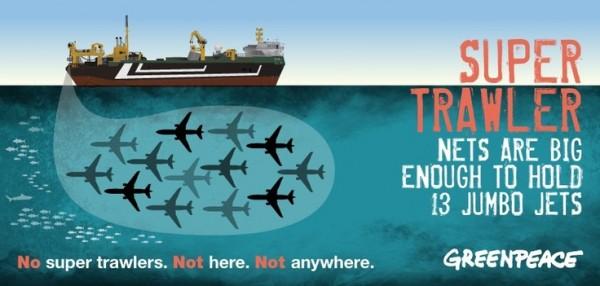 trawler nets greenpeace poster