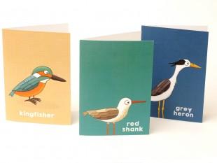 water birds greetings cards beetle cherry